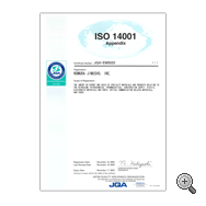ISO4001 Certificate